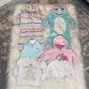 Baby Girl 6-12M Onsie & Top Bundle. 7 Pieces